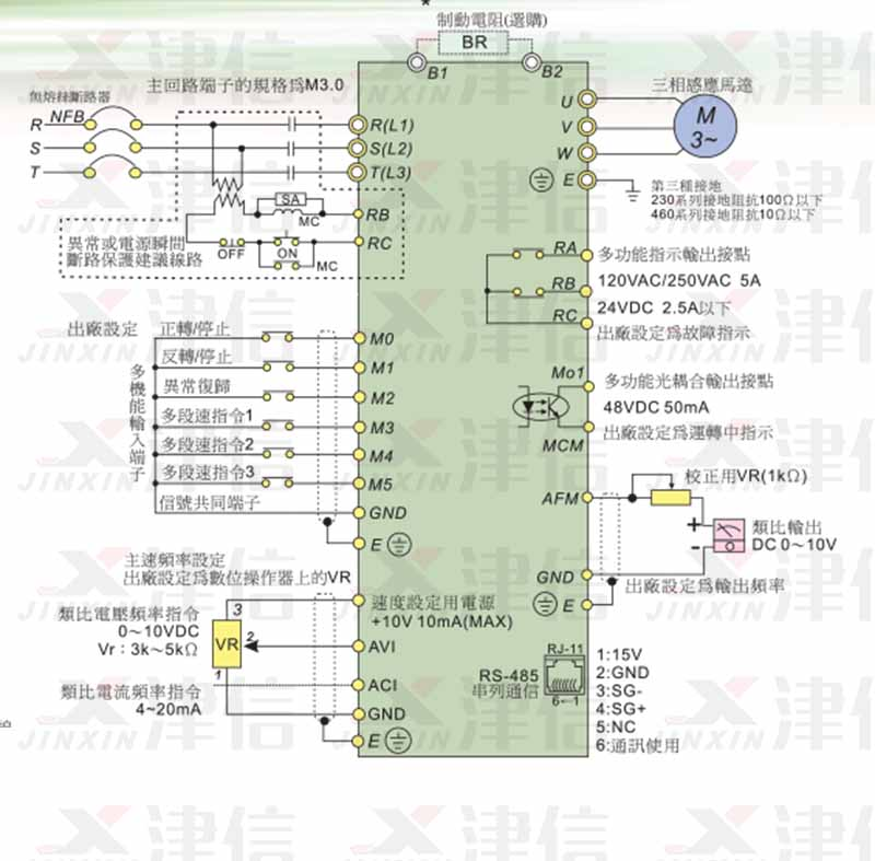 delta变频器_台达变频器接线图大全-台达VFD全系列变频器接线图